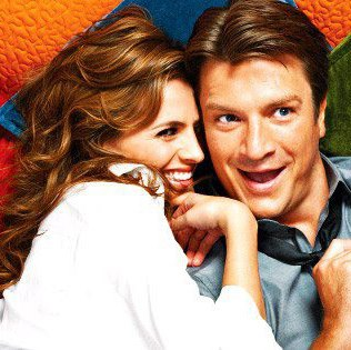 Nathan Fillion & Stana Katic fond d'écran with a portrait entitled Stana and Nathan