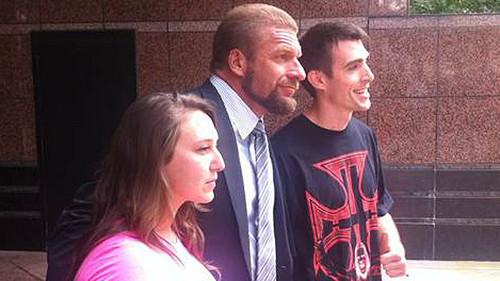 Triple H's new haircut