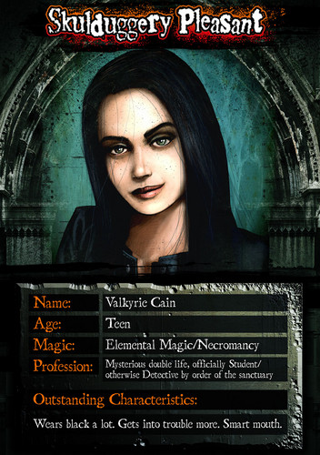 Skulduggery Pleasant fond d'écran possibly with animé entitled Valkyrie Card