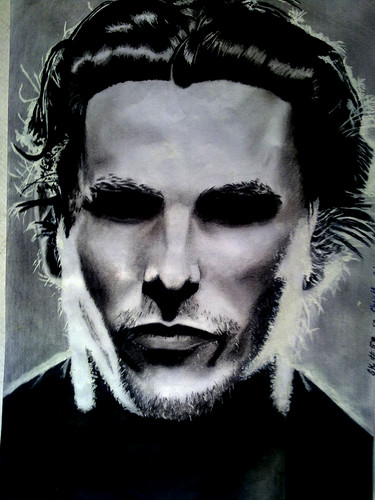 christian bale's sketch  - christian-bale Fan Art