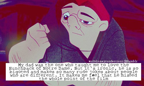 The Hunchback of Notre Dame wallpaper with anime titled disney confessions