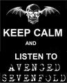 keep calm - avenged-sevenfold fan art