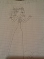 my free-hand sketch of Dawn's prom dress... - total-drama-island fan art