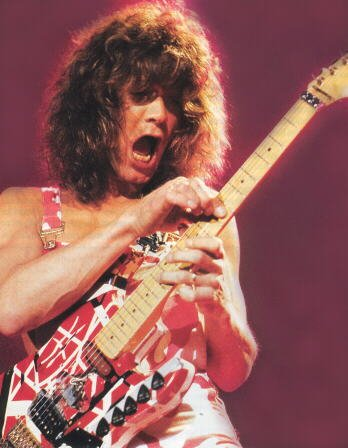 Eddie Van Halen With His Signature Guitar - as requested!