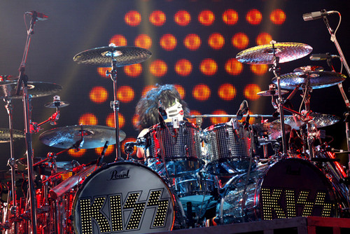 KISS wallpaper with a drummer, a bass drum, and a percussion instrument titled ★ Eric Singer September 2012 ☆