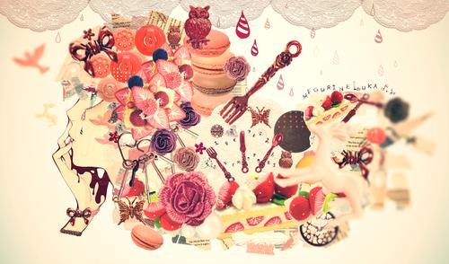 Megurine Luka wallpaper containing a banana split, a split, and an ice cream sundae called *MEGURINE*
