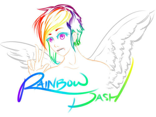 レインボ ダッシュ (Rainbow Dash WIP)