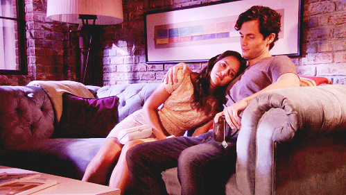 Dan and Blair wallpaper containing a family room, a living room, and a den entitled » dan & blair «