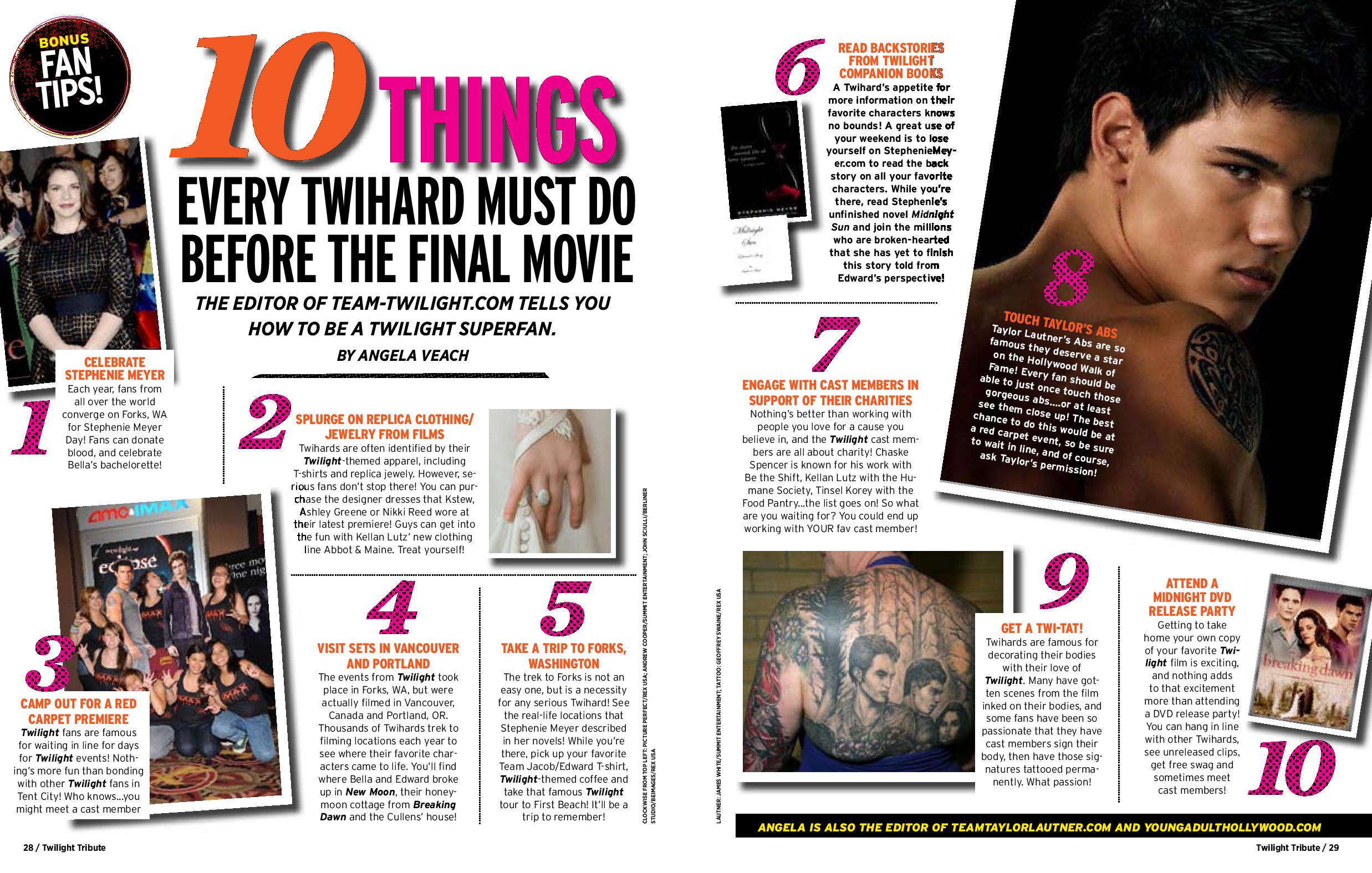 10 things every twihard must do before BD part2
