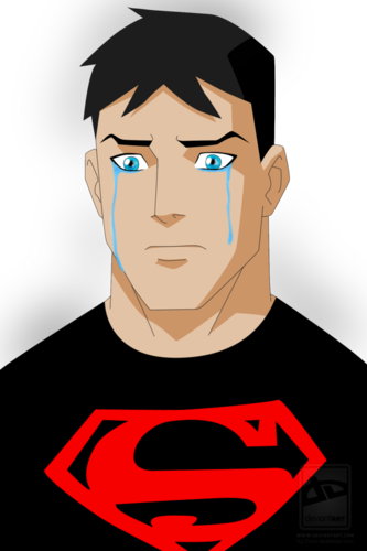 in young justice wallpaper entitled A sad Superboy