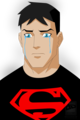 A sad Superboy