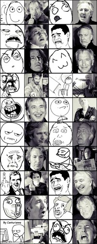 Alan's rage faces