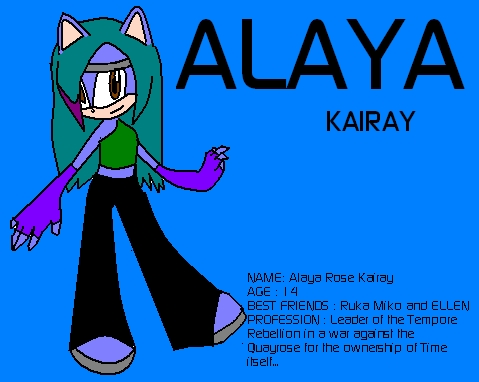Alaya Kairay the Hedgehog
