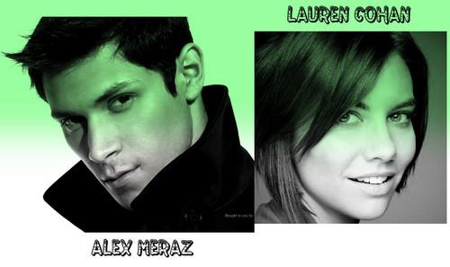 Alex Meraz and Lauren Cohan