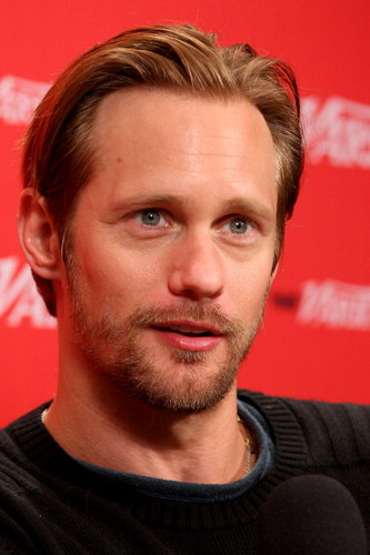 Alexander Skarsgård 壁纸 containing a portrait called Alex & Onata Aprile at TIFF - Variety Studio Presented 由 Moroccanoil At Holt Renfrew