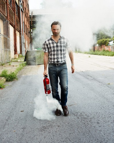 The Walking Dead wallpaper probably containing a street titled Andrew Lincoln in Men's Health