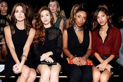 Ashley at the DKNY toon for New York Fashion Week - Front Row {09/09/12}.