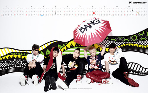 kpop 4ever wallpaper probably containing anime titled Big Bang wallpaper