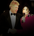 Bill Clinton and Michael Jackson  - bill-clinton fan art