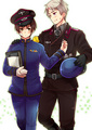 Black police and white police - hetalia photo