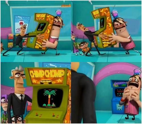 Fanboy and Chum Chum Club wallpaper probably containing Anime titled Boog being jealous