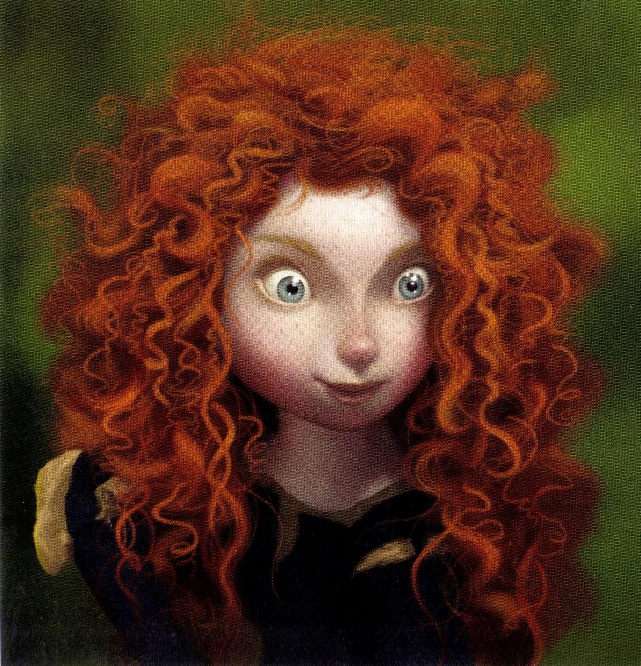 Фото девочка из мультика с красными волосами 1 фотография