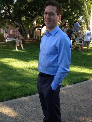 Brian Dietzen at NCIS-set
