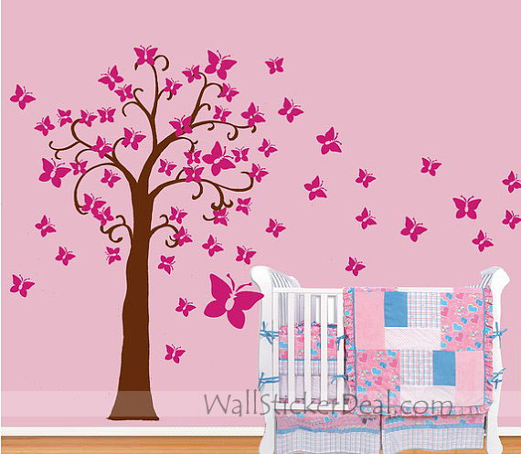 butterfly tree wall sticker home decorating photo new arrival 24pcs 3d butterfly wall decor butterfly wall