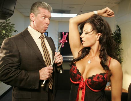 Candice Michelle achtergrond probably with a business suit entitled Candice Michelle Photoshoot Flashback