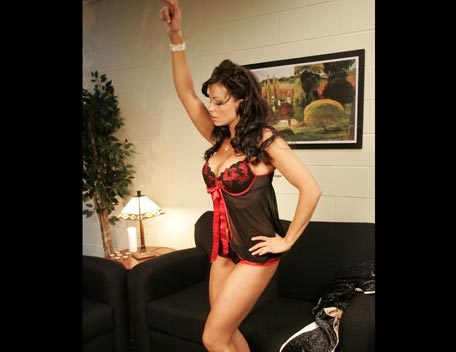 Candice Michelle 壁纸 with a leotard, a bustier, and tights entitled Candice Michelle Photoshoot Flashback