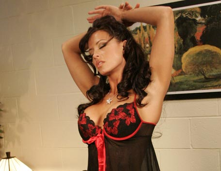 Candice Michelle 壁纸 possibly containing a shower, a 鸡尾酒 dress, and a chemise entitled Candice Michelle Photoshoot Flashback