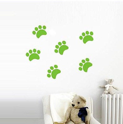Cat Footprint dinding Sticker