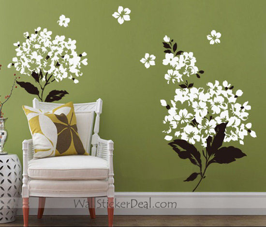 Wall Decor Stickers Flowers : Charming flowers wall stickers home decorating photo