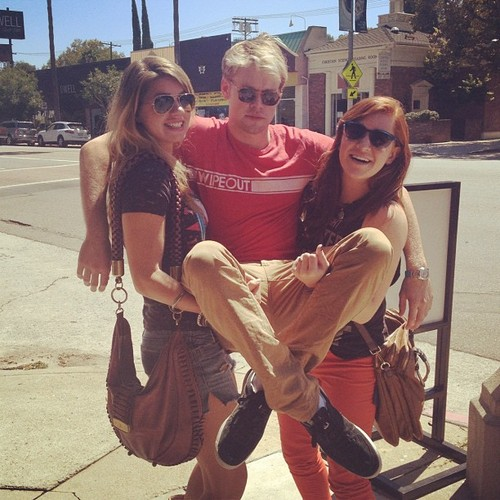 Chord with his sisters Harmony and Skye