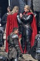 Chris Hemsworth and His Body Double on Set  'Thor: The Dark World - chris-hemsworth photo