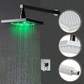 Color Changing LED Shower Faucet with 8 inch Shower Head