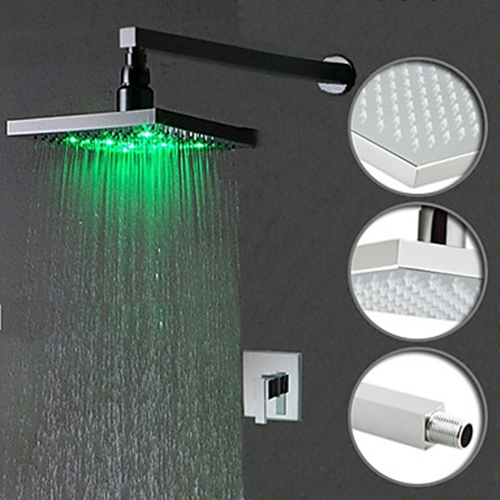 Faucets images Color Changing LED Shower Faucet with 8 inch Shower ...