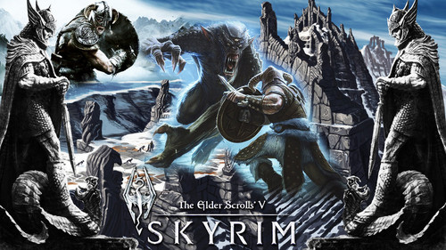 Elder Scrolls V : Skyrim wallpaper probably with anime entitled DUMP