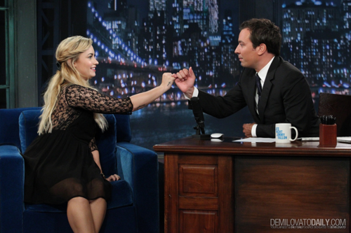 Demi - Late Night with Jimmy Fallon - September 05, 2012