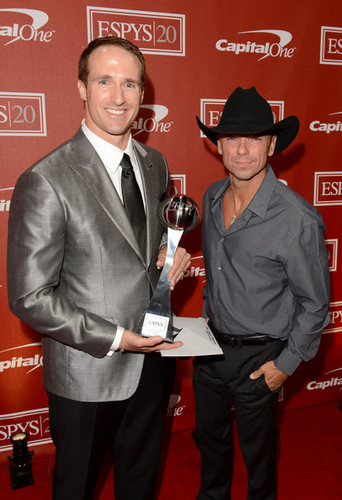 Drew Brees and Kenny Chesney