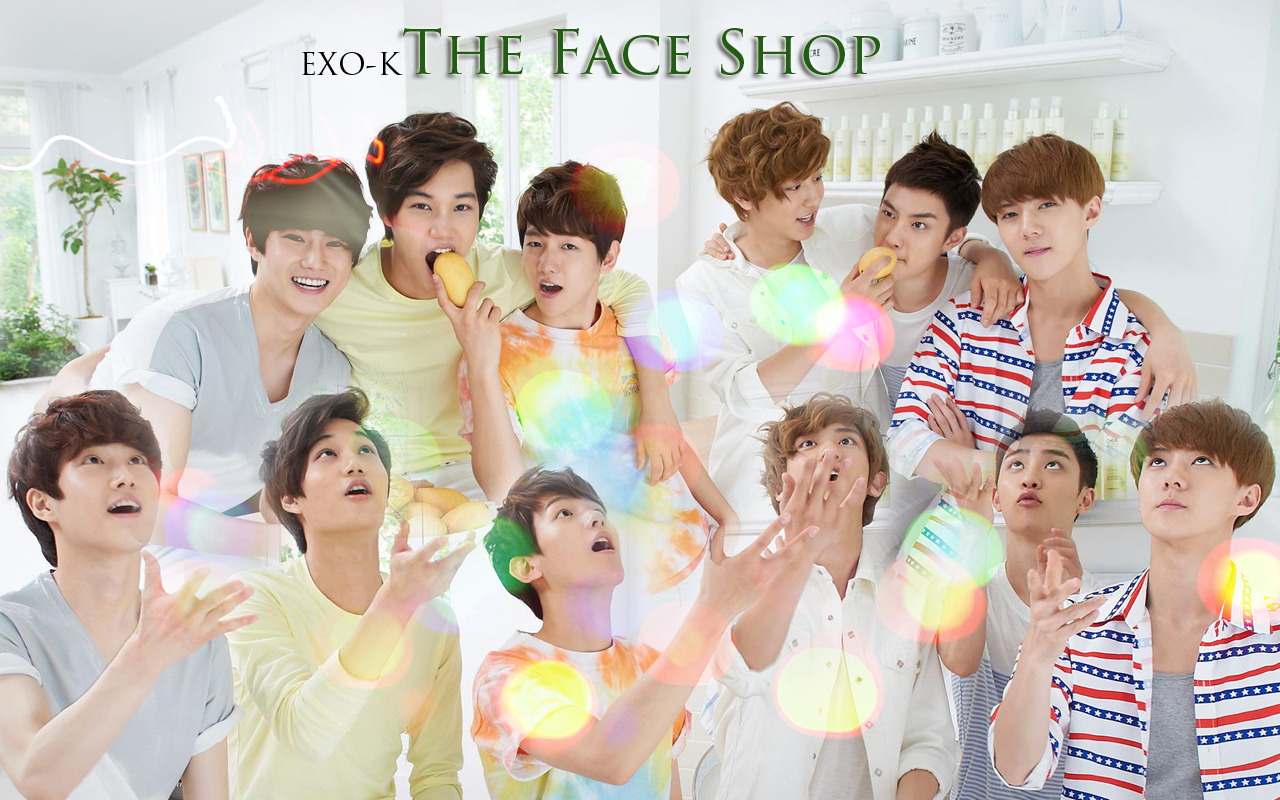 "EXO-K ""The Face Shop"" wallpaper"