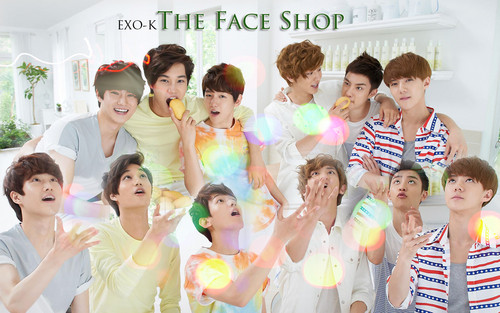 "EXO-K ""The Face Shop"" mga wolpeyper"