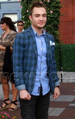 Ed Westwick at US Open 2012 Hangout (10 sept 2012)
