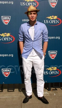 Ed Westwick during 2012 US OPEN
