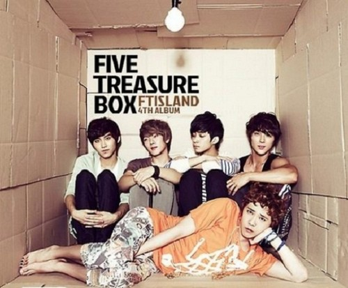"F.T. Island wallpaper possibly containing a packing box and a street titled FT Island ""Five treasure Box"""