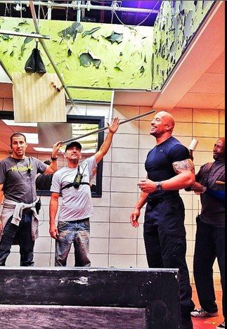 "Dwayne ""The Rock"" Johnson Обои called Fast6 On set"