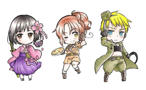 Hetalia wallpaper with anime entitled Fem! Countries