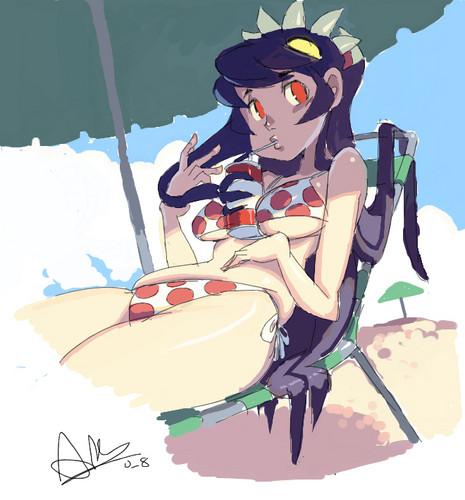 Filia in bikini