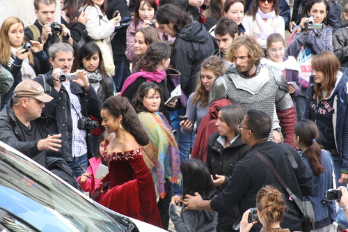 Filming Spam (Guinevere and Merlin Argue in Scene Apparently)