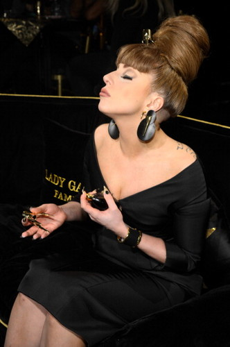 Gaga at Macy's FAME launch